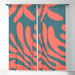 Living Coral in the Deep Sea - Pantone Color Trend 2019 Blackout Curtain