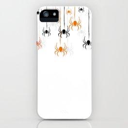 Halloween Spiders iPhone Case