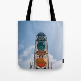 Ferry Wheel at the top of Tibidabo Tote Bag