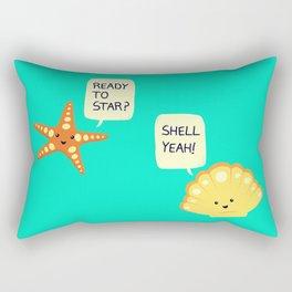 Motivational Beach! Rectangular Pillow