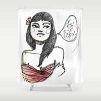lolita Shower Curtains featuring Lolita by Catsareblue