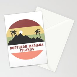 northern-mariana-islands Retro Country Stationery Cards