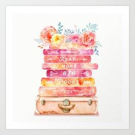 Read More Big Books Art Print
