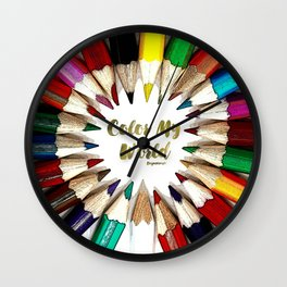 Color My World Teen Collection by Bagaceous Wall Clock