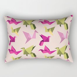 pink paper cranes Rectangular Pillow