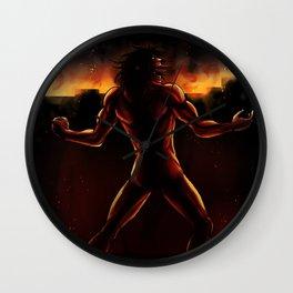 Eren Titan Artwork Wall Clock