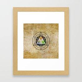 zelda triforce Framed Art Print