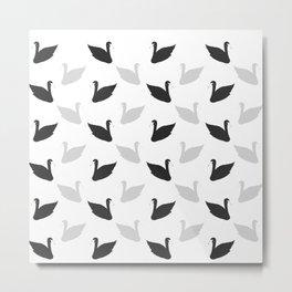swans motif  Metal Print