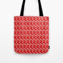 Lattice Pattern (Red) Tote Bag