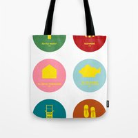 wes anderson Tote Bags featuring Wes Anderson by Chay Lazaro