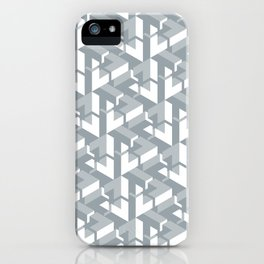 Triangle Optical Illusion Gray Medium iPhone Case