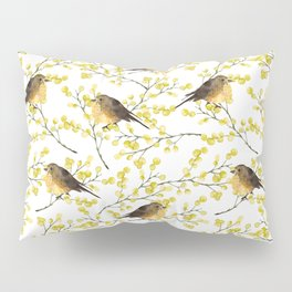 Mimosa and birds Pillow Sham