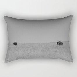 Two Tallgrass Bison Rectangular Pillow