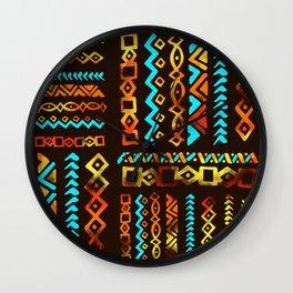 Bold Ethnic pattern n.5 Wall Clock
