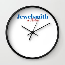 Jewelsmith in Action Wall Clock