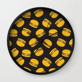 Burger Pattern  Everett co Wall Clock