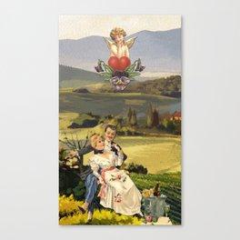 THE LOVERS TAROT CATD Canvas Print