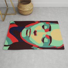 Close 2 U II popart face woman minimalism drawing modern Rug