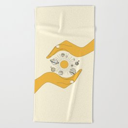 The Universe in Your Hands Beach Towel