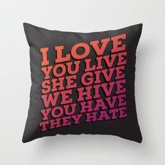 The sad truth Throw Pillow
