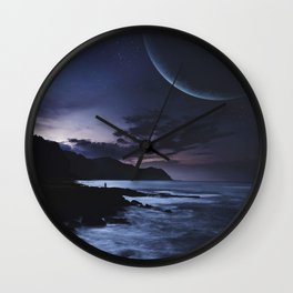 Distant Planets Wall Clock