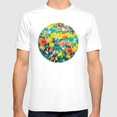 FLOWERS SMALL White Mens Fitted Tee