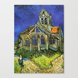 Vincent Van Gogh - Church at Auvers Canvas Print