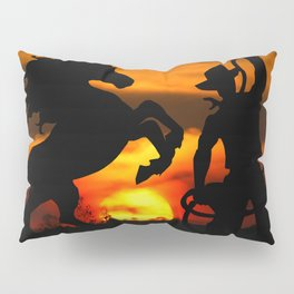 Cowboy at sunset Pillow Sham