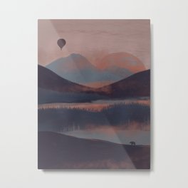 Adrift in the Mountains... Metal Print