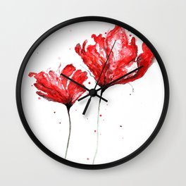 Poppy blooming 3 Wall Clock