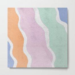 Pastel Waves Metal Print