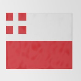 Flag of Utrecht (province) Throw Blanket