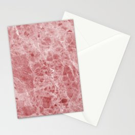Juliette rosa deep pink marble Stationery Cards
