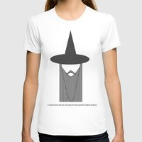 gandalf T-shirts featuring Gandalf Minimalist by Joe ettling