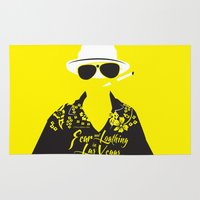 fear and loathing Area & Throw Rugs featuring Fear and Loathing in Las Vegas by Jordi Hayman Design