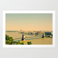 budapest Art Prints featuring Budapest  by Arevik Martirosyan