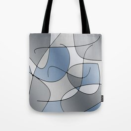 ABSTRACT CURVES #1 (Grays) Tote Bag