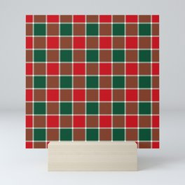 Plaid Festive Mini Art Print