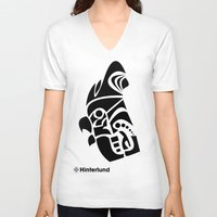 rooster V-neck T-shirts featuring Rooster by Hinterlund