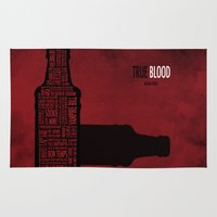 true blood Area & Throw Rugs featuring True Blood by Luke Eckstein