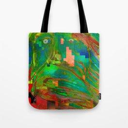 Pixel Shock Tote Bag