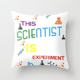 Mad Scientist Shirt Birthday Science Theme Party Gift Throw Pillow