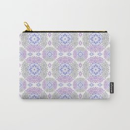 Delicate lace lilac and grey pattern . Carry-All Pouch