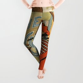 Vintage poster - The Circus Girl Leggings
