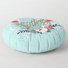 I Like Pretty Things and the Word Fuck, Aqua Floor Pillow