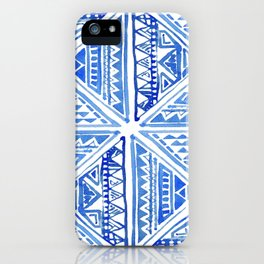 Geo tile art iPhone Case