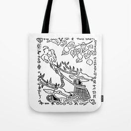 Two Harts Entwined Eternal  (two of hearts) Tote Bag