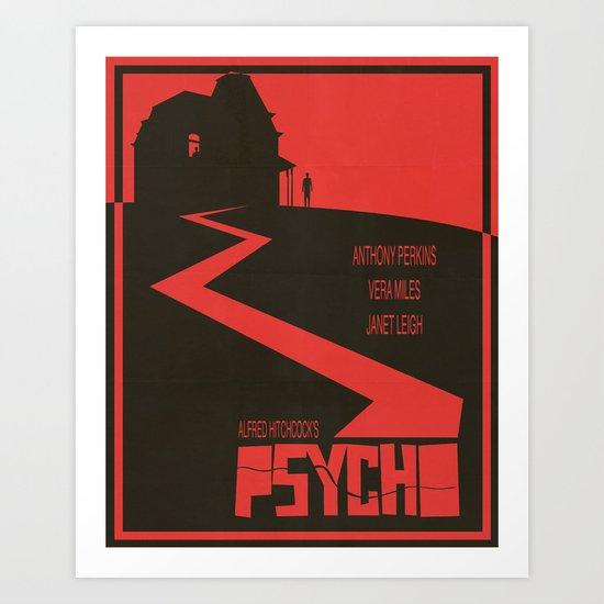 Psycho Movie Poster Art Print