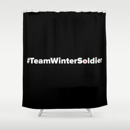 #TeamWinterSoldier Hashtag Team Winter Soldier Shower Curtain