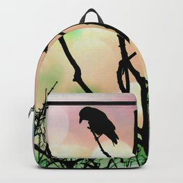 The Lonely Crow At Sunset Backpack